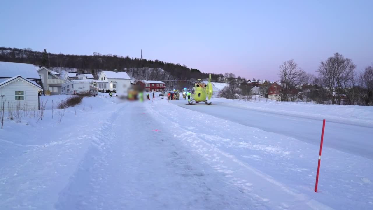 Arbeidsulykke på Sortland